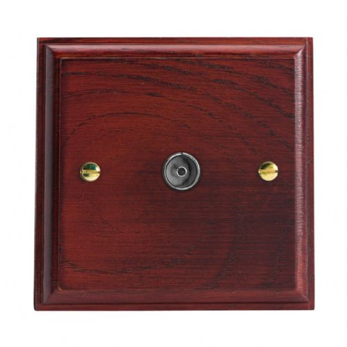 Varilight XK8M Kilnwood Mahogany 1 Gang Co-Axial TV Socket